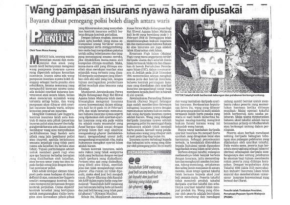 wang-pampasan-insurans-haram-dipusakai